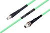 Temperature Conditioned SMA Male to N Female Bulkhead Low Loss Cable 24 Inch Length Using PE-P300LL Coax -- PE3M0230-24 -Image