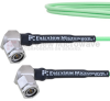 Low Loss RA TNC Male to RA TNC Male Cable LL160 Coax in 200 CM and RoHS -- FMCA1690-200CM -Image