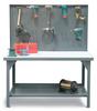 Pegboard Shop Table -- T6036-PBB-UHMW-HKS