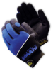 Professional Mechanic's Glove, Black & Blue Glove with Logo, Large -- 616314-19333