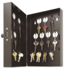 Key Cabinet, 28-key, Steel, Black, 11 1/2