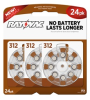 Mercury Free Hearing Aid Batteries Size 312 24-Pack -- L312ZA-24ZM - Image