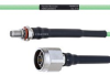 Temperature Conditioned Low Loss SMA Female Bulkhead to N Male Cable LL160 Coax in 100 cm -- FMHR0194-100CM -Image