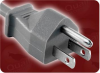 3m 1.25mm/3 VCTF GREY NACC JIS 8303 JAPAN GREY TO IEC-60320-C13 LEFT ANGLE GREY WITH FERRITE POWER CORD -- 2043.118F