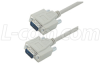 Deluxe Molded D-Sub Cable, DB9 Male / Male, 10 ft -- CSMN9MM-10