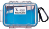 Pelican 1010 Micro Case - Clear with Blue Liner -- PEL-1010-026-100 -Image