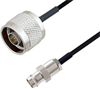 BNC Female to N Male Cable Assembly using LC085TBJ Coax, 1 FT -- LCCA30635-FT1 -Image
