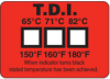Non-Reversible Temperature Label for use in Dishwashers -- TL-TI Non-Reversible Temperature Labels