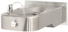 Wall Mounted, Low Profile, Barrier-free, 14 Gauge Satin Finish Stainless Steel Drinking Fountain With Antimicrobial Protection, 100% Lead-free Waterways, And Back Panel -- 1107LBP