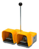 On-Off Foot Switch: double plastic pedal with yellow metal guard -- APD1113-V0-M