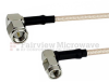 RA SMA Male to RA SSMA Male Cable RG-316 Coax in 6 Inch -- FMC0451315-06 -Image