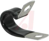 Clamp, aluminum with black vinyl coating, screw mt, 3/8 holding diameter -- 70208867 - Image