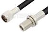 N Male to N Female Bulkhead Cable 48 Inch Length Using RG214 Coax, RoHS -- PE3217LF-48 -Image