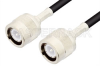 C Male to C Male Cable 12 Inch Length Using RG223 Coax -- PE3343-12 -Image