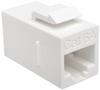 Cat6a Straight-Through Modular In-Line Snap-In Coupler (RJ45 F/F), TAA -- BHDBT-001-FF