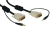 DVI Dual Link Cable with Audio, Digital TMDS Monitor Cable (DVI-D and 3.5mm M/M) 6-ft. -- P560-006-A - Image