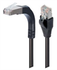 Shielded Category 5e Right Angle Patch Cable, Stackable, Black, 10.0 ft -- TRD815SRA15BLK-10 -Image