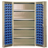 """Heavy-Duty All-Welded Storage Cabinets - 36"""" Wide - QSC-BG-36-96-4IS - Image"""