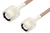 C Male to C Male Cable 24 Inch Length Using RG400 Coax, RoHS -- PE3545LF-24 -Image