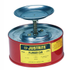 2 Quart Justrite Steel Plunger Can -- CAN10208