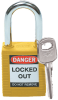 Brady Yellow Nylon Steel 6-pin Keyed & Safety Padlock 99570 - 1 1/2 in Width - 1 3/4 in Height - 1/4 in Shackle Diameter - 1 Key(s) Included - 754476-99570 -- 754476-99570
