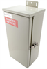 Electrical Cabinet SMALL CELL Outdoor Split-phase 120/240 Vac 50A Main 4x 7A Branches UL 67 MOV -- LC-2MMX8-4472 -Image