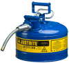 3 Gallon Type II Steel Flammable Liquid Safety Can -- CAN10728-BLUE