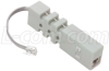 Inline Tester, RJ12(6X6) M-F with Test LED's and Contact Points. -- EC-LMTJ -Image
