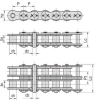Heavy Duty Series Cottered Type Roller Chain