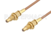 SSMC Jack Bulkhead to SSMC Jack Bulkhead Cable 6 Inch Length Using RG178 Coax -- PE3C4390-6 -Image
