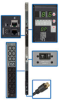 3-Phase Monitored PDU, 8.6kW, 48 208V outlets (42 C13, 6 C19), 6-ft. NEMA L21-30P 30A input, 0U vertical mount, TAA Compliant -- PDU3VN6L2130B