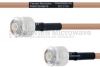 TNC Male to TNC Male MIL-DTL-17 Cable M17/128-RG400 Coax in 18 Inch -- FMHR0084-18 -Image