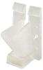 RG6 Vertical Siding Clip, 100pcs., Clear -- 72-954CL