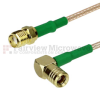 SMA Female to RA SMB Plug Cable RG-316 Coax in 48 Inch and RoHS Compliant -- FMC1326315LF-48 -- View Larger Image