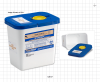Disposable Pharmaceutical Waste Disposal Container with Absorbent Pad -- 12617