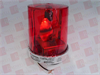 FEDERAL SIGNAL 121S-120R ( ROTATING WARNING LIGHT, 0.36 AMP, 120 VAC, 50/60 HZ, SURFACE OR PIPE MOUNT, RED )
