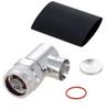 Right Angle N Male (Plug) Low PIM Connector for SPO-500, SPF-500 Cable, Solder -- TC-SPO500-NM-RA-LP -Image