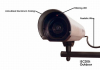 Dummy Outdoor Security Camera w/Red Light