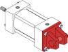 Series MN Aluminum Pneumatic Cylinder - Model MN63 NFPA Style MP2 -- Removable Clevis Mount