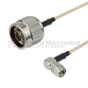 N Male to RA SMA Male Cable RG-316 Coax in 48 Inch -- FMC0104315-48 -Image