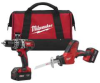 MILWAUKEE Factory Reconditioned M18 Cordless 2 Tool Combo -- Model# 2695-82
