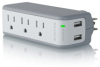 Belkin Mini Travel Surge Protector w/USB Charge -- BZ103050QTVL