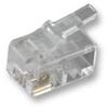 MH CONNECTORS - MHRJ224P4CF - RJ22 MODULAR PLUG, 4POS, 1 PORT -- 814778