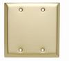 Blank Plates -- Box Mounted, Two Gang, Brass -- SB23 - Image