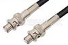 SHV Plug to SHV Plug Cable 48 Inch Length Using 93 Ohm RG62 Coax -- PE3857-48 -Image