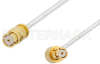 SMP Female to SMP Female Right Angle Cable 72 Inch Length Using PE-SR047FL Coax -- PE36156-72 -Image