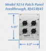 Module Rack Feedthrough Patch Panel with Four RJ45/RJ45 Cat5e Ports -- Model 9214 -Image