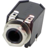 1/4 in. Right Angle Phone Jack, PC Mount, 3 Conductor, Double closed circuit -- 70214258 - Image