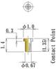 Thru Hole Short type, Round Socket Pin -- NV5P-F10L14-GG - Image