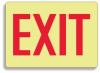 Glow-In-The-Dark Exit Sign -- SGN177 -Image